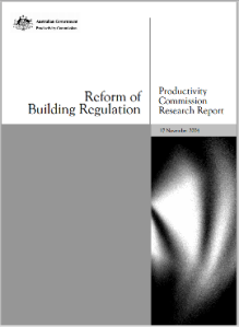 Australian Government Reform of Building Regulation
