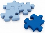 Jigsaw Puzzle Pieces, with missing piece