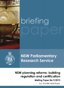 NSW Planning Reforms - Building Regulation and Certification