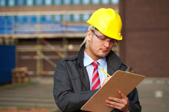 Building Professional Taking Site Notes on Site